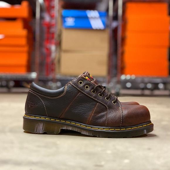 Dr Martens Mila St Teak Work Boots Sz